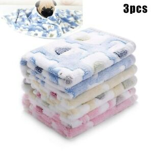 3Pcs Fluffy Pets Blankets Super Soft Flannel Throw Blanket for Dog Puppy CatsPet