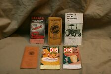 6 Vintage Agriculture Farming Pocket Guide Notebooks DEKALB MARTIN FUNKS RASIN