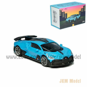 1:64 Bugatti Divo Model Car Diecast Vehicle Collection Collection Kids Gift Blue