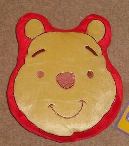"Winnie The Pooh Plush Filled Cushion Face Design Shaped 13""x11"" bargain price"