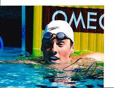 2012 Usa Gold Medal Olympic Swimmer Conor Dwyer Signed In Water 8X10