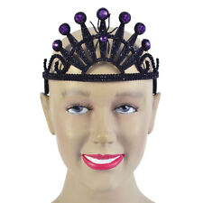 FAIRY TALE #SPIDER TIARA WITH PURPLE STONES  PLASTIC FANCY DRESS ADULT