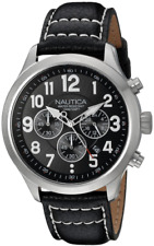 Nautica Men's NAD14516G NCC 01 CHRONO Analog Display Quartz Black Watch