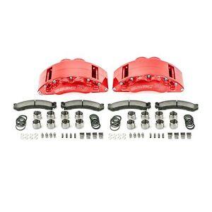 2009-18 RAM 2500/3500 SSBC Barbarian Eight Piston Front Caliper Kit (red)