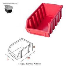 5 x Ergo L Rojo apilables Cajas de almacenamiento caja de plástico 116x212x75