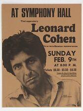 "Leonard Cohen Boston 16"" x 12"" Photo Repro Concert Poster"