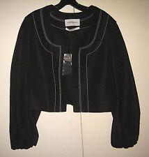 Yves Saint Laurent Couture Jacket Crop Bolero 42 Black Retail $1565 Size 12 RARE