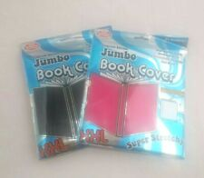 """2 Book Cover Jumbo Xxl Premium Oversized Super Stretchy Fit Up To 10""""x15"""" School"""