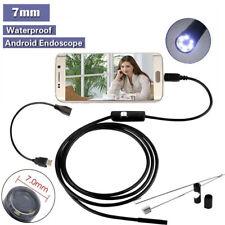 2m Android 6-LED camara de inspección boroscopio endoscopio impermeable 7mm