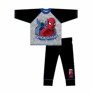 Boys Kids SPiDERMAN Long Sleeve Pyjamas OFFICIAL MERCHANDISE