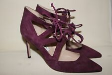 MANOLO BLAHNIK Cutout Lace-Up Asaki Pumps BB Pointed Toe Shoes Size 36.5 6.5
