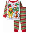 New Disney baby boys Winnie the pooh Christmas snug fit pajamas 24 months