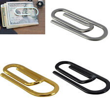 XL PaperClip Money Clip Stainless Steel Silver Card Slim Wallet Wedding Favour