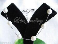 Perlen-Armbänder im Ketten-Stil aus Sterlingsilber mit echten
