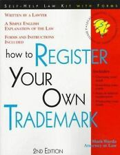 How to Register Your Own Trademark: With Forms, Warda, Mark, Good Book