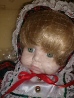 """ARTISAN COLLECTION """"JANET"""" DOLL IN ORIGINAL BOX W/TEDDY. TAGS AND COA"""