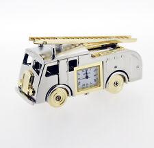 Novelty Fire Engine Miniature Clock in Chrome
