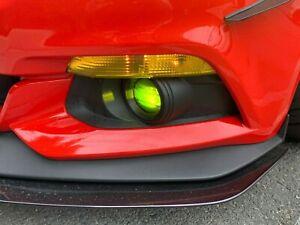 2015 - 2017 Ford Mustang Fog Light Tint Overlay YELLOW