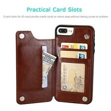 Premium Leather Cover For Iphone - With Wallet Case
