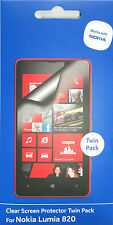 CLEAR SCREEN PROTECTOR TWIN PACK FOR NOKIA LUMIA 820