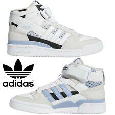 New listing Adidas Originals Forum Mid Men's Sneakers Comfort Casual Shoes White Black