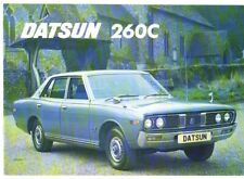 Datsun Nissan 260C Saloon 1973-75 UK Market Sales Brochure Cedric