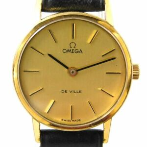 OMEGA DE VILLE Cal.625 GOLD HAND-WINDING WOMEN'S VINTAGE WATCH SWISS