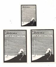 Lot of 3 Ray Allen Billington Bookplates by his Wife Mabel Crotty Keepsake