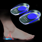 Silicone Gel feet Cushion Foot Heel Cup Elastic Care Half Insole Shoe Pad