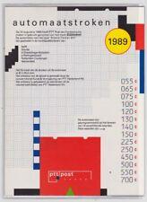 JAARMAPJE Automaatstroken Klussendorf 1989 POSTFRIS jaargang in carnet