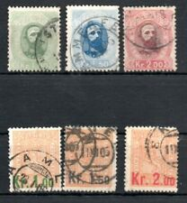 NORWAY , 1878 , 1905 , two sets HIGH DEFINITIVES , USED , LOOK