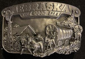 1983 NEBRASKA The Good Life BELT BUCKLE - SISKIYOU BUCKLE CO