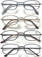 Classic Style Metal Reading Glasses/Spring Hinges/Multi Colour&Shape +0.50~+5.50