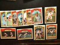 1972 TOPPS, 12  BASEBALL CARDS -W/ MEL STOTTLEMYRE-VG+EX-FREE SHIPPING