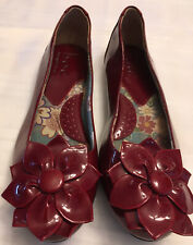 boc Red Ladies Shoe Slip on With Red Flower At Toe