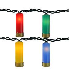 Northlight 10 Multi-Color Shotgun Shell Novelty Christmas Lights - Green Wire
