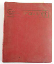 Land Rover / Rover cars 1972 factory operating repair times manual and bulletins