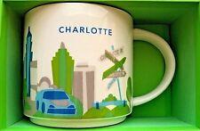 Starbucks Mug You Are Here Collectible Charlotte North Carolina 14 Ounces New LE