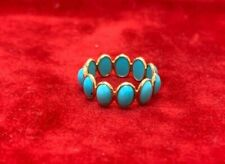 Sleeping Beauty 4.5CT Natural Turquoise Eternity Ring Band Size 6.25