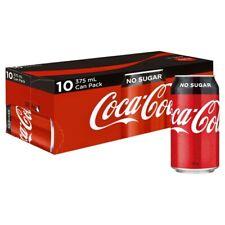 Coca-Cola No Sugar Coke Multipack Cans 375mL 10 Pack