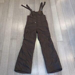 Vtg 60s 70s Obermeyer Ski Bib Snow Suit Pants Retro Brown Mod Apres Womens XL 16