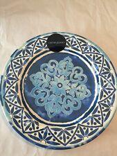 "Cynthia Rowley Spanish Tile MELAMINE Dinner Plates Set 2 Outdoor Safe 11"" New"