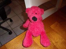 """Ganz 10"""" plush red big nose black bear teddy lovey soft"""