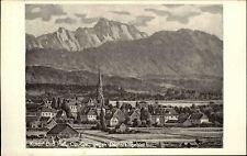 Bad Hall Oberösterreich frankiert 1958 gelaufen Panorama gegen Dachstein Gebiet