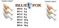 BLUE FOX VIBRAX® ORIGINAL Spinners 3g - 18g Various / Gold / Copper / Silver