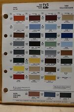 1980 Volkswagon, Audi PPG Paint Color Chips, Free US Ship