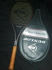 "Dunlop John McEnroe Comp II Racquet Tennis Racquet Leather #2 Grip 4 1/4"" w/case"