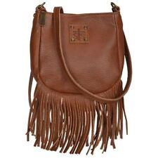 STS Ranchwear Crossbody Leather Handbag for Women -Tan, Western Fringe