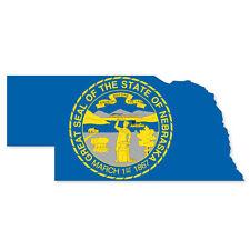"Nebraska State Map Flag bumper sticker decal 5"" x 3"""