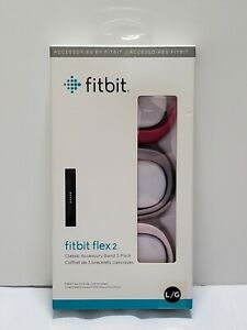NEW OEM Fitbit Flex 2 Accessory Band 3-Pack Pink/Lavender/Magenta Large